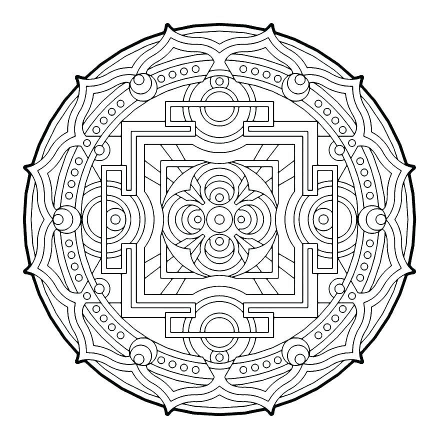 878x878 Sacred Geometry Coloring Pages Maycrutex