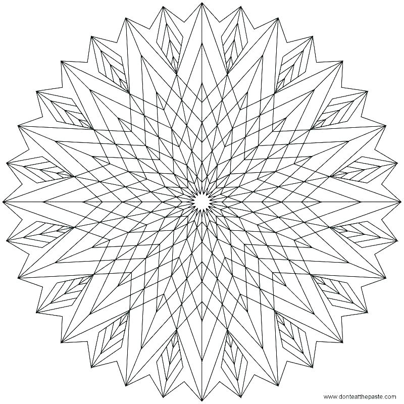 800x800 Geometric Color Pages Geometric Coloring Pages For Kids Geometric
