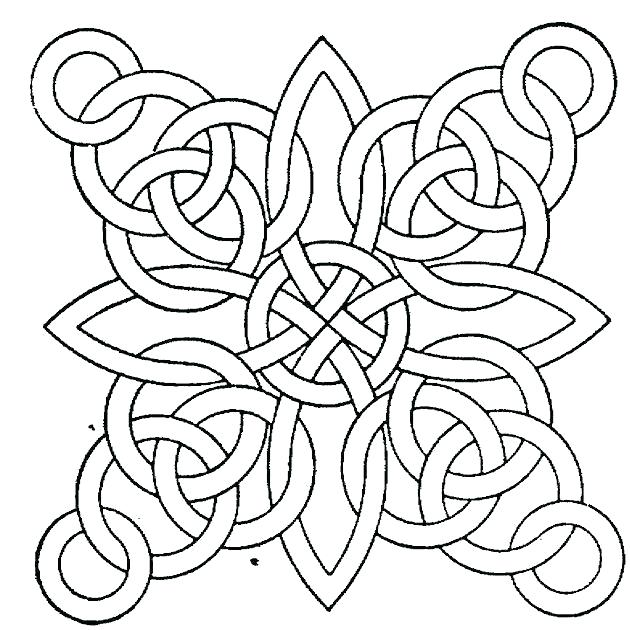 630x630 Geometric Design Coloring Pages Geometrical Design Coloring Book