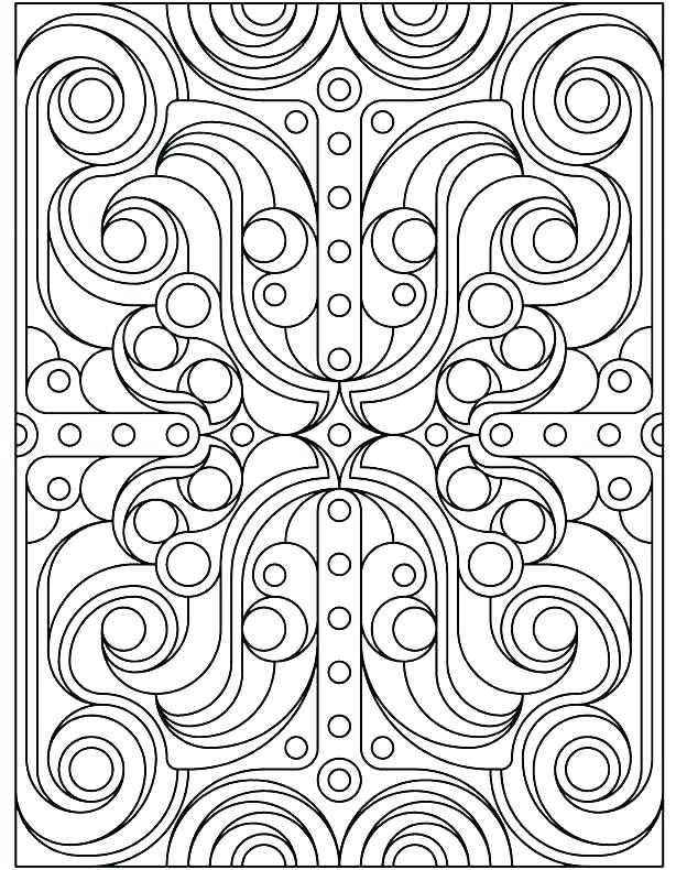 Geometrical Coloring Pages At GetDrawings