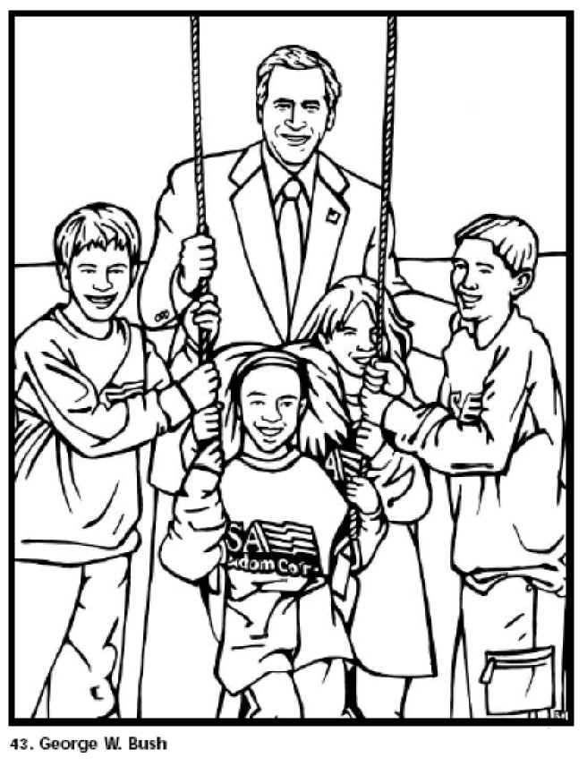 George Bush Coloring Page
