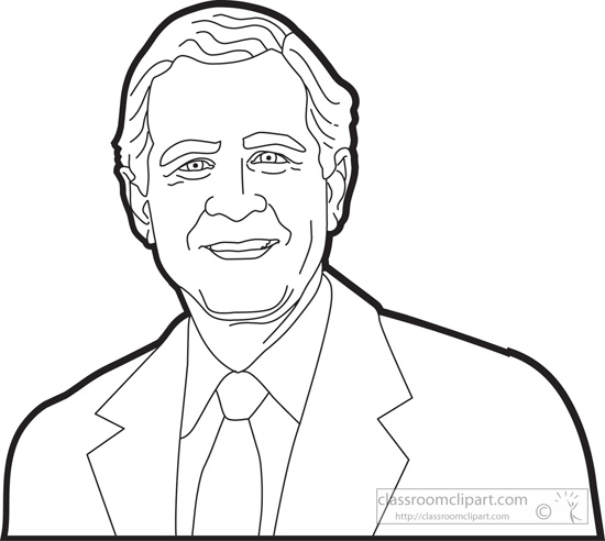 550x492 George W Bush Coloring Page Beautiful George Hw Bush Clipart