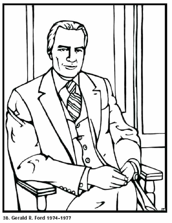 660x852 George W Bush Coloring Page President Coloring Pages George W Bush