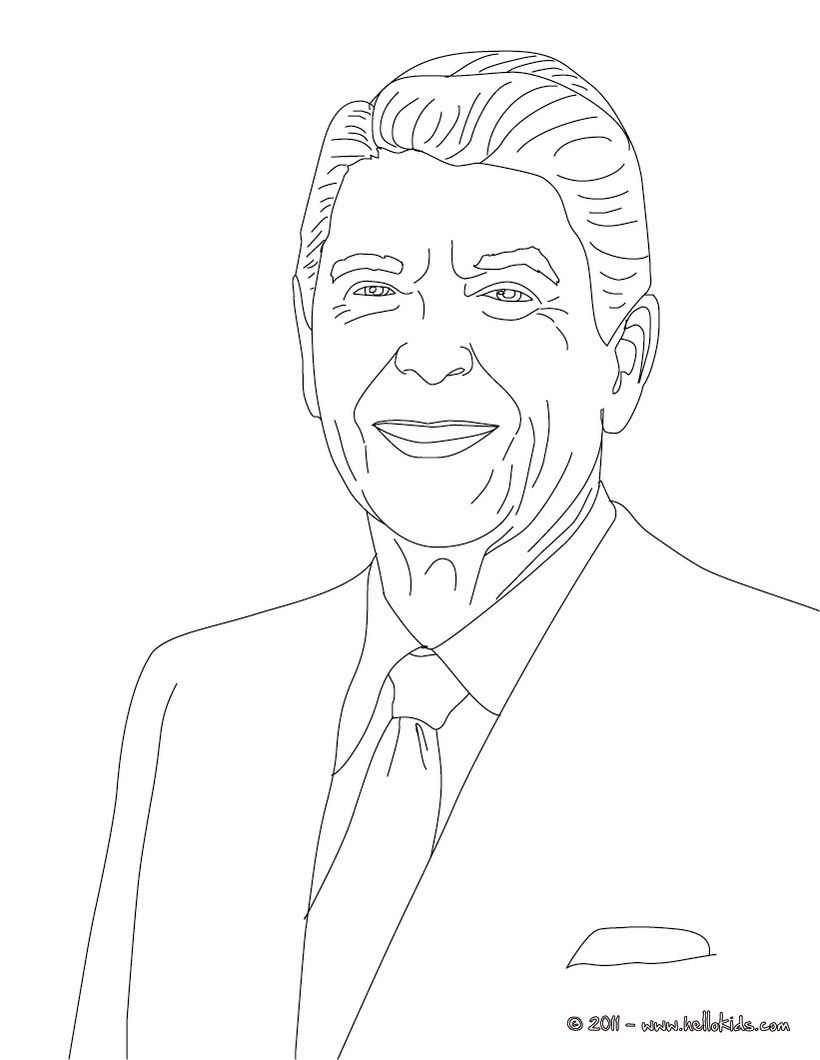 820x1060 Wealth George W Bush Coloring Page President Ronald Reagan Cc