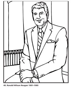 236x288 Coloring Page George W Bush Holidays School