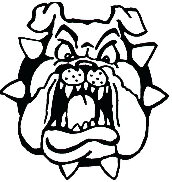 600x633 Bulldog Pictures To Color Georgia Bulldogs Coloring Pages Bulldog