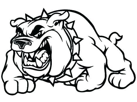 468x351 Georgia Bulldogs Coloring Pages Bulldog Coloring Book Bulldogs