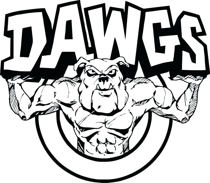 878x768 Georgia Bulldogs Coloring Pages Bulldog Coloring Pages Bulldogs