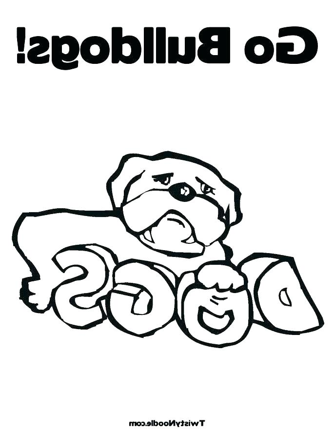 685x886 Georgia Bulldogs Coloring Pages Bulldogs Coloring Pages Bulldog