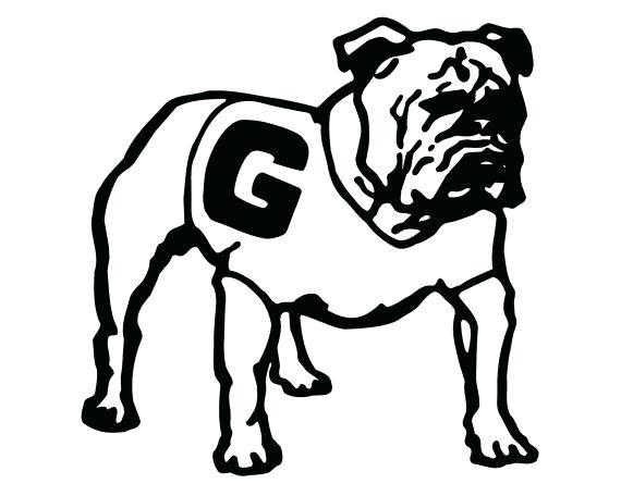 570x456 Georgia Bulldogs Coloring Pages Georgia Bulldogs Logo Coloring