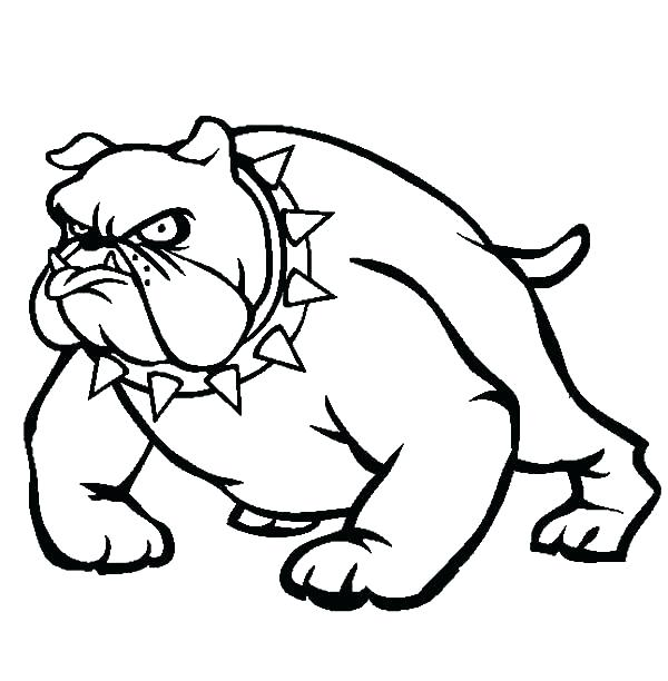 600x612 Georgia Bulldogs Coloring Pages The New Bulldogs Coloring Sheets
