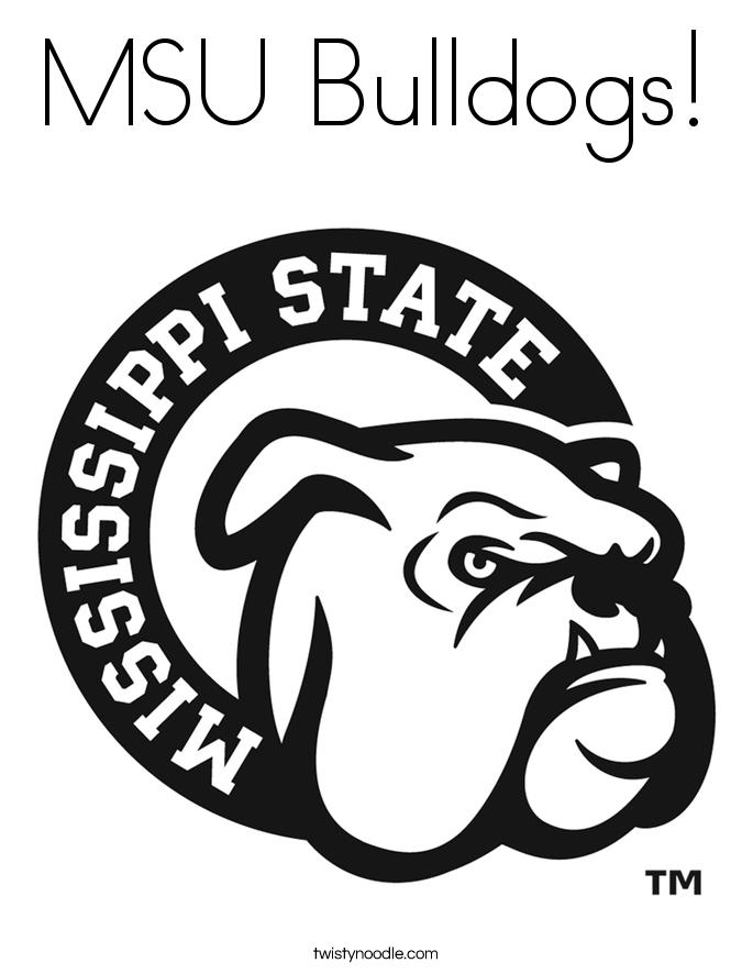 685x886 Msu Bulldogs Coloring Page
