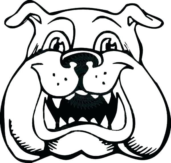 600x575 Georgia Bulldogs Coloring Pages