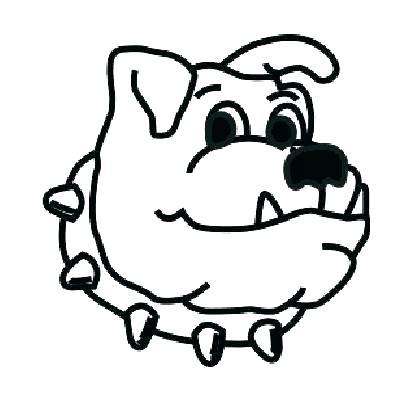 406x394 Bulldog Coloring Page Bulldogs Coloring Pages Free Bulldog