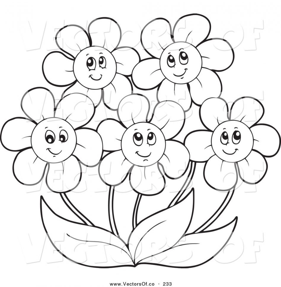 948x967 Daisy Coloring Pages