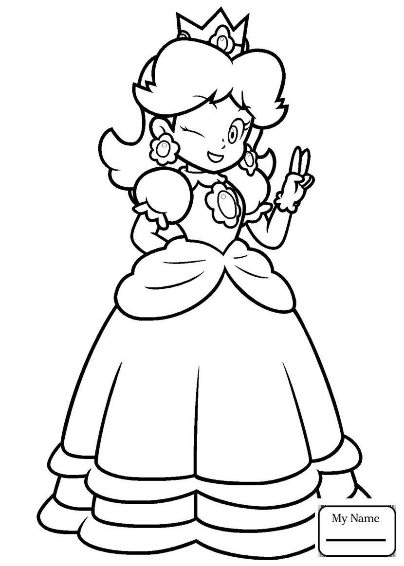 830x1164 Daisy From Mario Coloring Pages