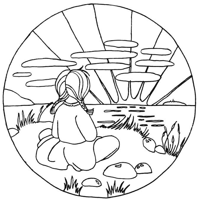 666x676 Ocean Sunset Coloring Pages Sketch Coloring Page