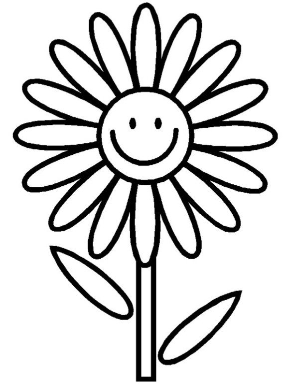580x773 Summer Flower Coloring Pages Tulip Flower Coloring Pages