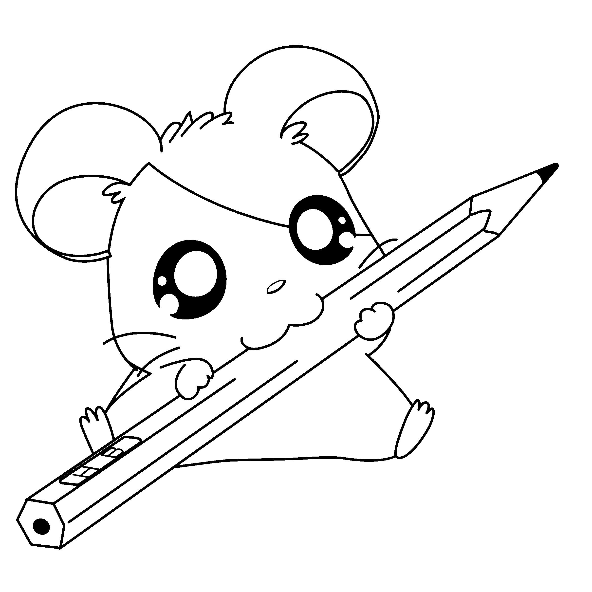 2400x2400 Gerbil Animal Coloring Pages Free Draw To Color