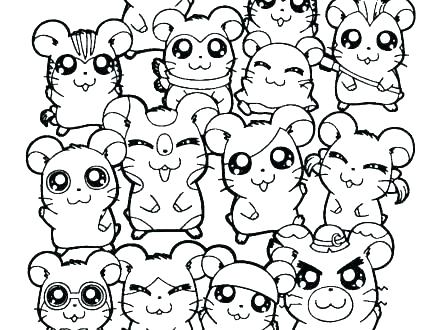 440x330 Coloring Gerbil Coloring Pages Hamster For May Printable Gerbil