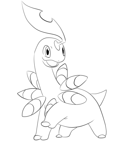 434x480 Click To See Printable Version Of Bayleef Coloring Page Lineart