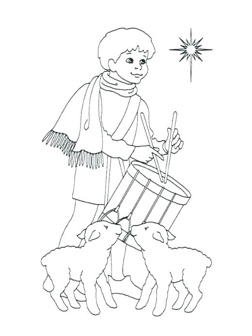 520x693 Drawn Shepherd Coloring Page Pencil And In Color Drawn Drawn