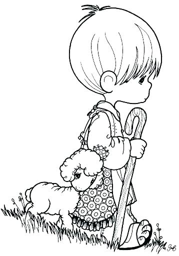358x512 German Shepherd Christmas Coloring Pages The Lord Is My Page Bible