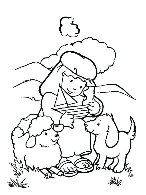 600x800 Shepherd Coloring Pages Shepherd Coloring Page The Lord Is My