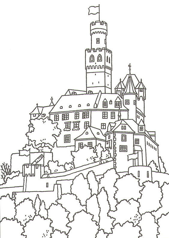563x792 German Coloring Pages For Kids Great Castles Games Castle Coloring