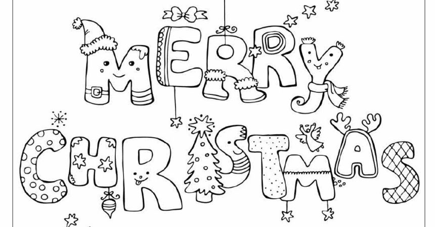 860x450 Christmas Print Out Coloring Pages