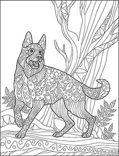 German Shepherd Coloring Pages