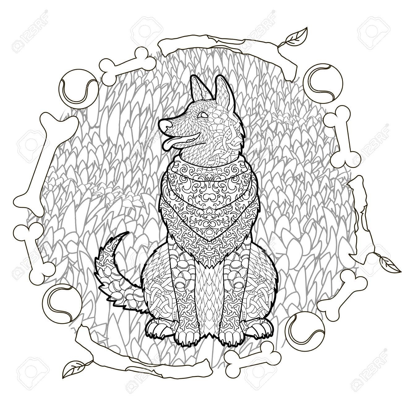 1300x1300 German Shepherd Coloring Pages Download