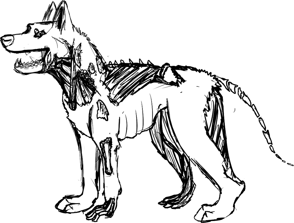 1024x779 Zombie German Shepherd Coloring Pages
