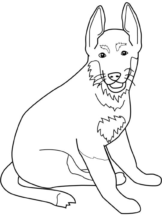540x720 Dog Color Pages Printable Dogs Coloring Pages German Shepherd