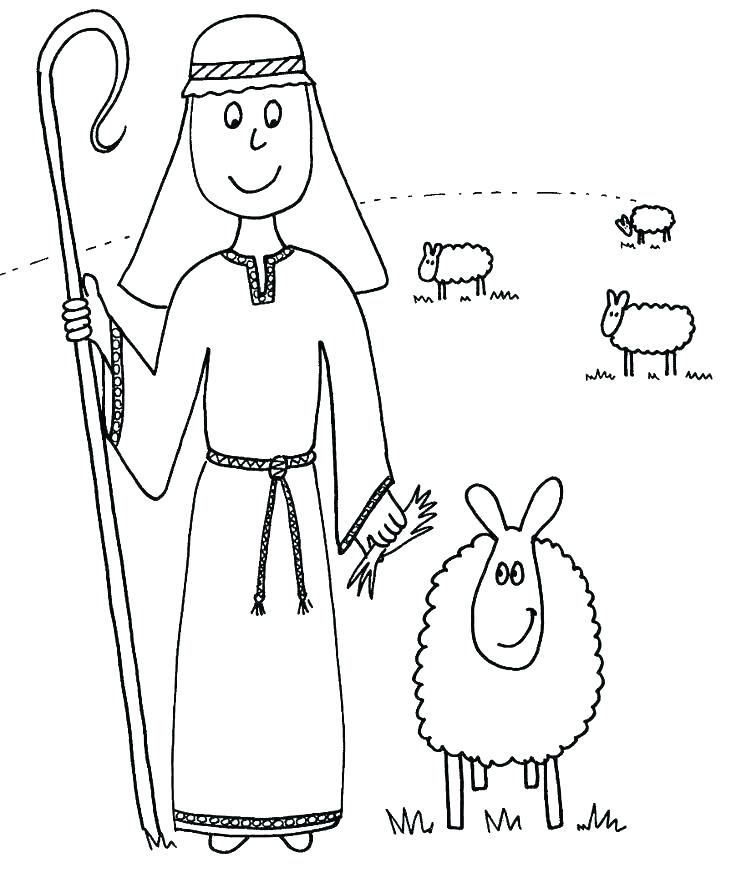 736x873 Drawn Shepherd Coloring Page Pencil And In Color Drawn Drawn
