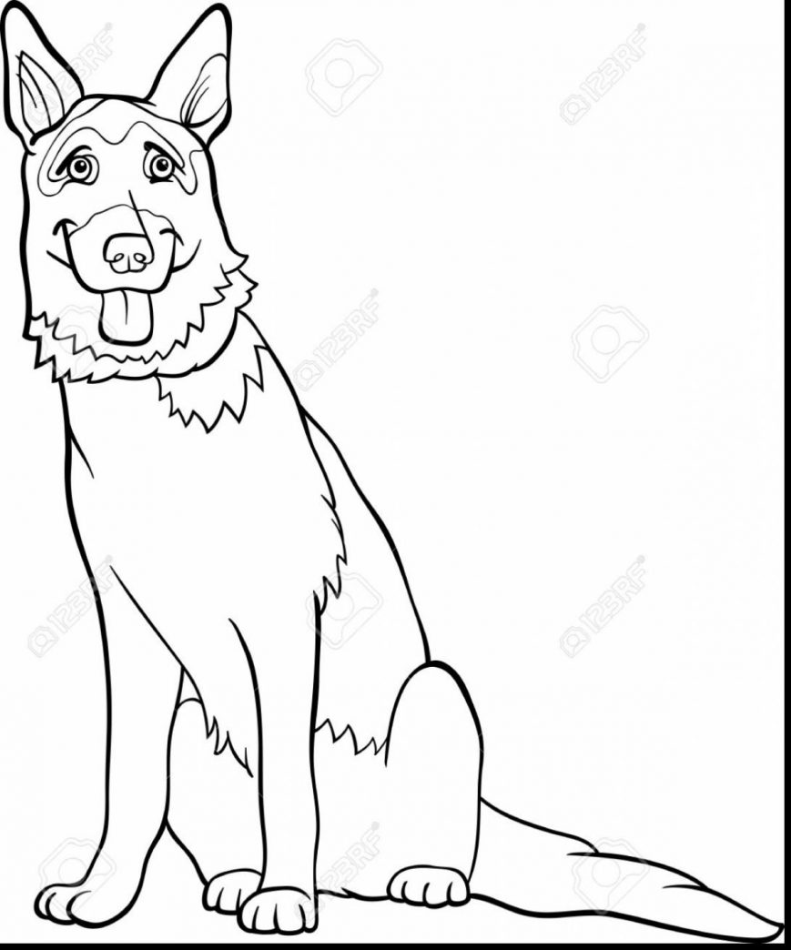 869x1044 German Shepherd Coloring Pages Images High Definition Puppy Sheet