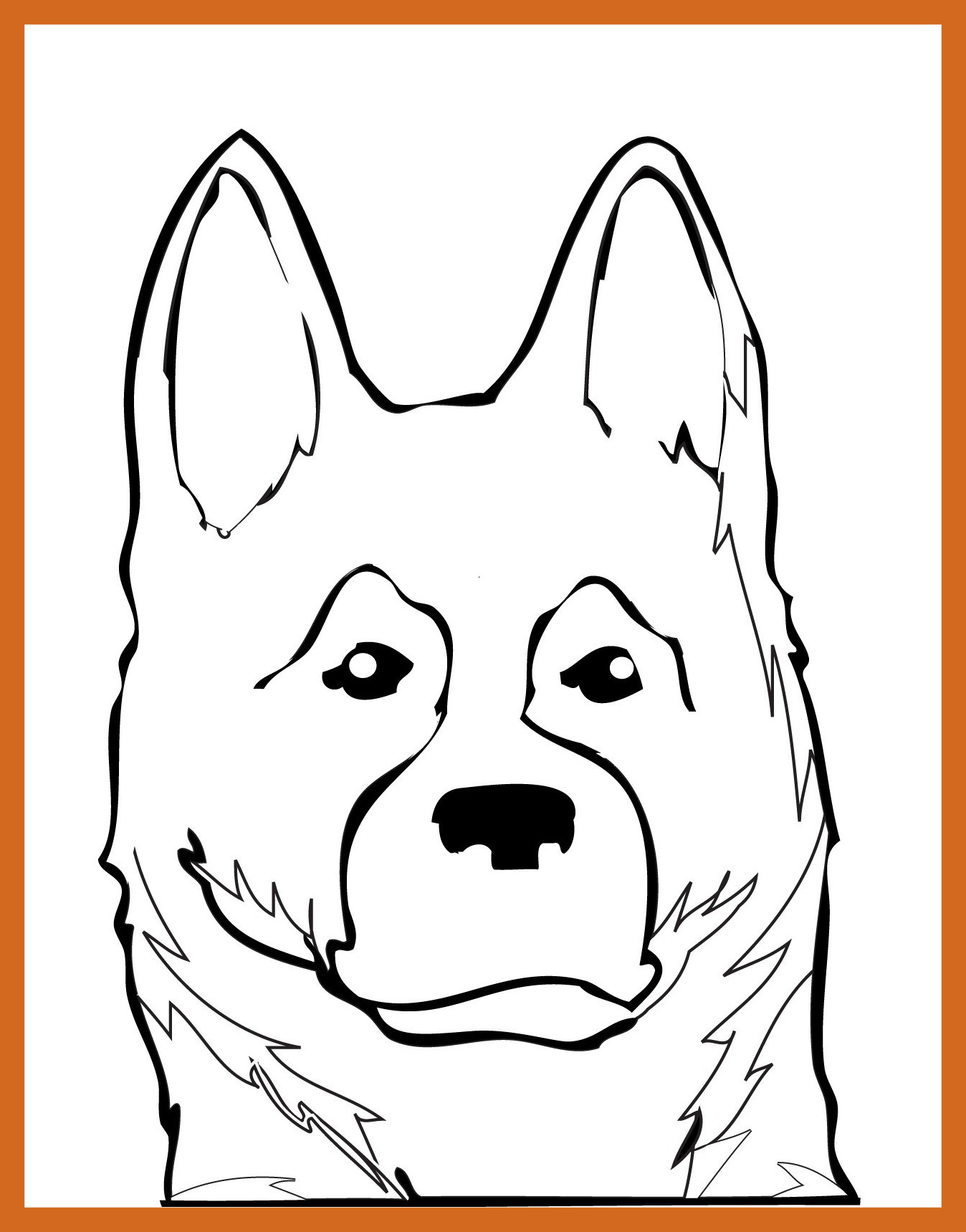 1348x1719 German Shepherd Puppy Coloring Pages
