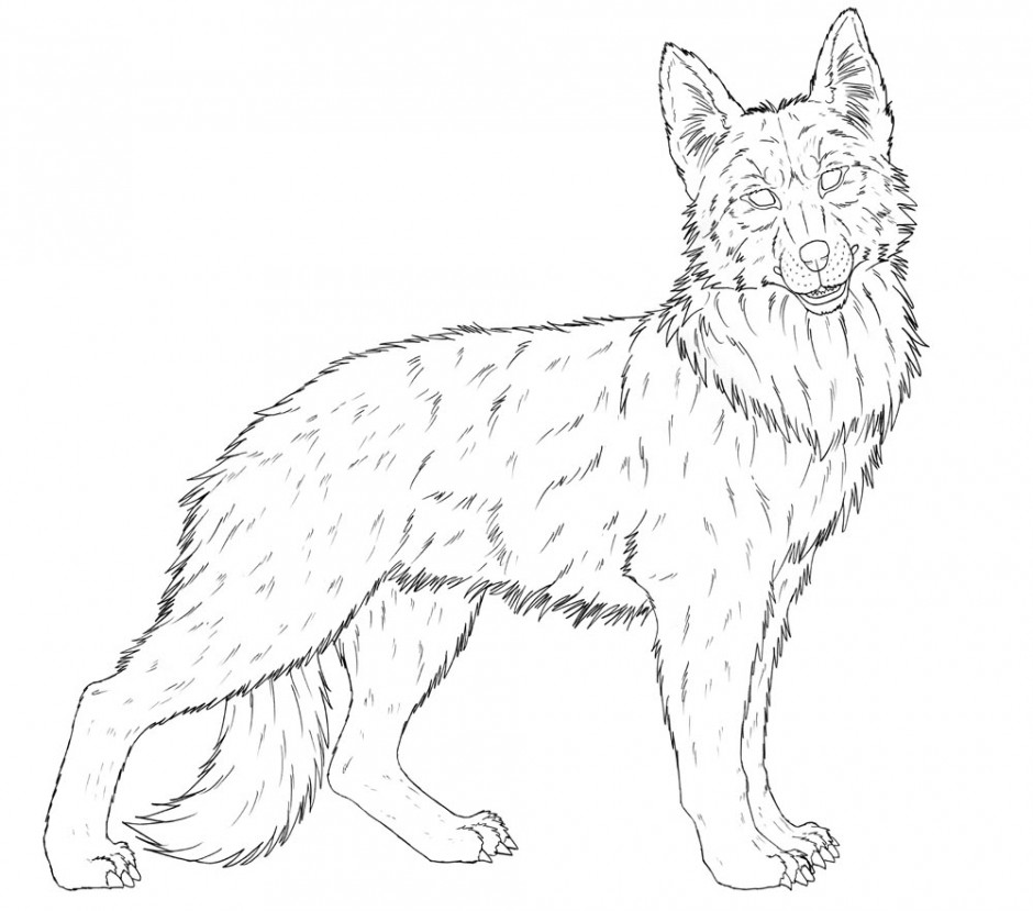 940x829 German Shepherd Coloring Pages To Download And Print For Free