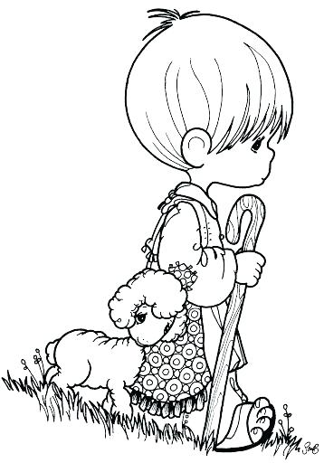 358x512 Shepherd Coloring Pages Precious Moments Nativity Coloring Pages