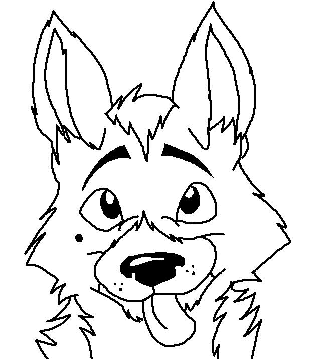 662x716 German S Pup Coloring Page