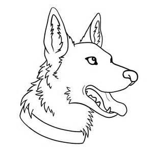 300x300 German Shepherd, German Shepherd Puppy Coloring Pages