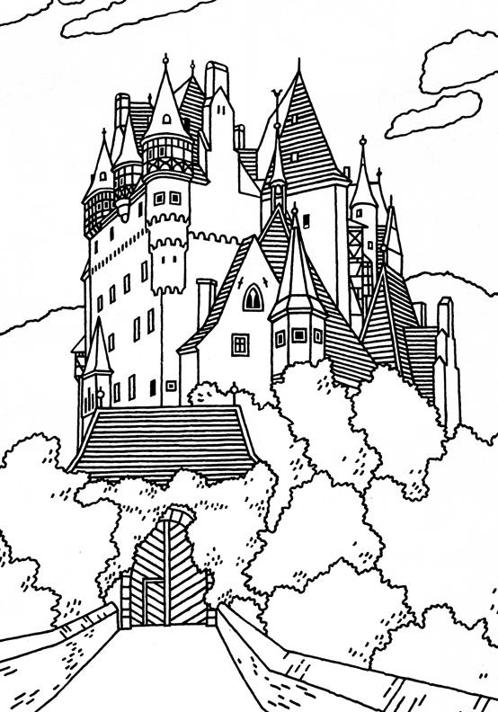 554x792 German Castle Drawing