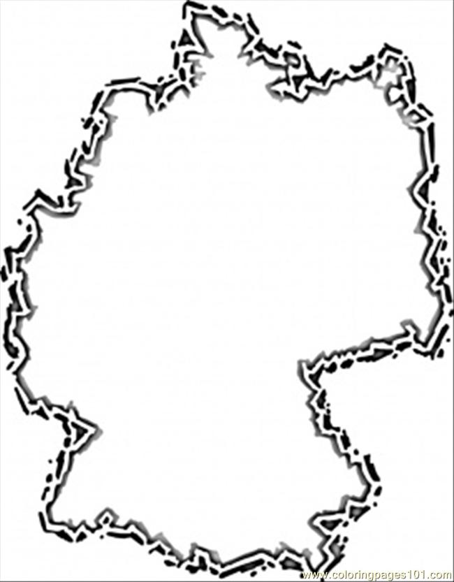 650x833 Germany Map Coloring Page