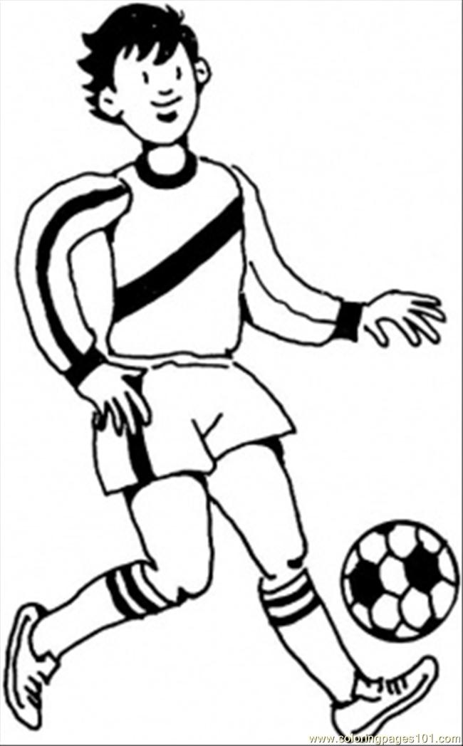 650x1048 Young German Player Coloring Apge Coloring Page