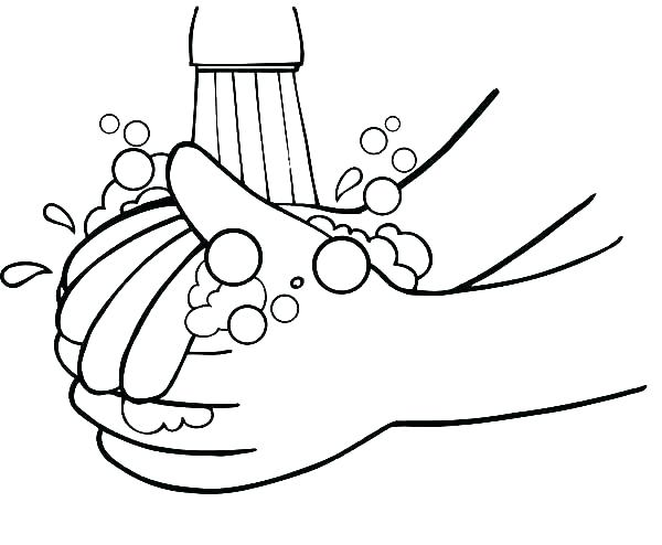 600x494 Hand Washing Coloring Pages Hand Washing Coloring Pages Germs