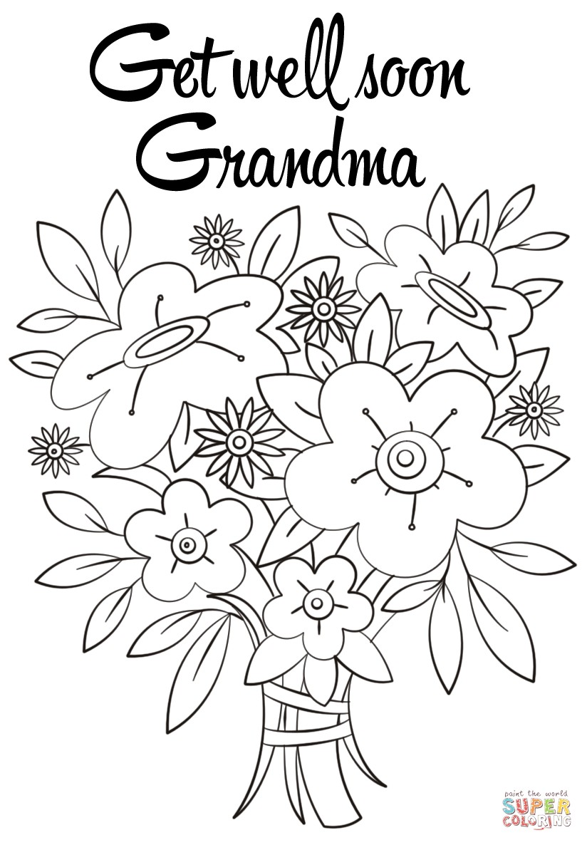 Get Well Card Coloring Page