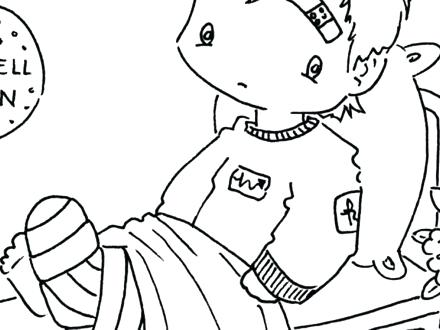 440x330 Get Well Coloring Pages And Printable Get Well Card Coloring Pages