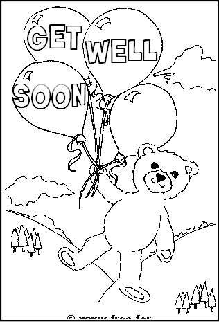 316x471 Get Well Soon Card Coloring Pages