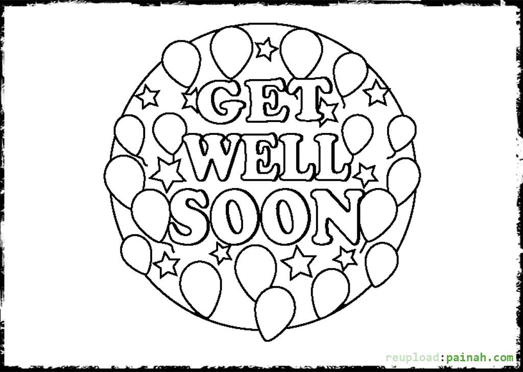 1024x728 Get Well Soon Card Coloring Pages Zuckett