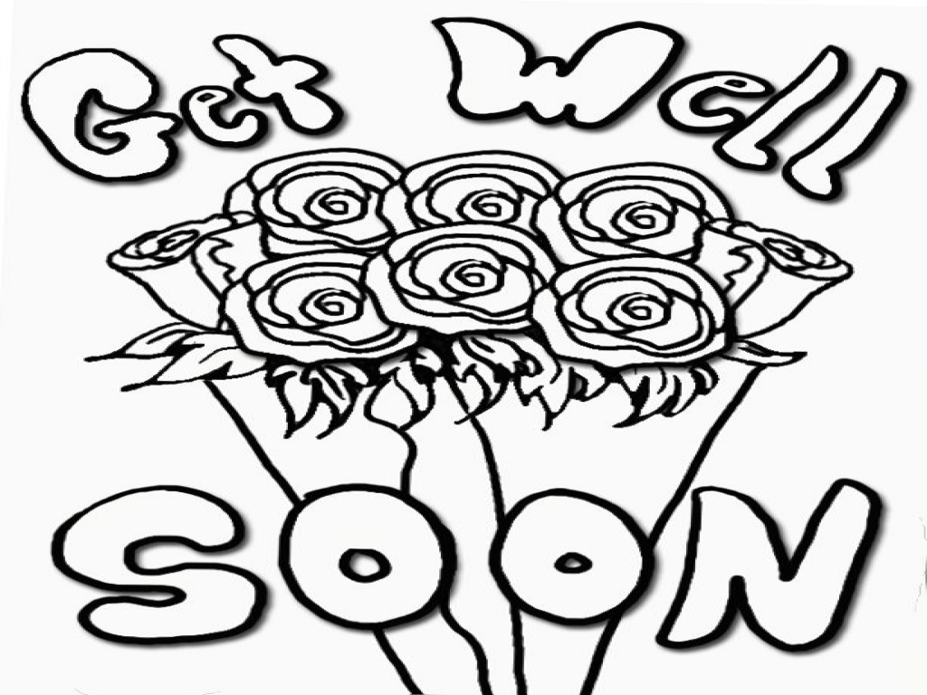1024x768 Get Well Soon Coloring Page Free Printable Pages Also Cards